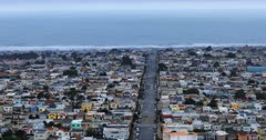 Aerial view of San Francisco with Pacific Ocean in background 4K