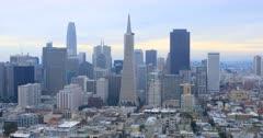View of the San Francisco, California city center 4K