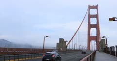 View of traffic on the Golden Gate Bridge 4K