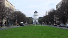 Timelapse of the California State Capitol in Sacramento 4K