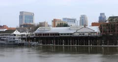 Old Sacramento from across Sacramento River 4K