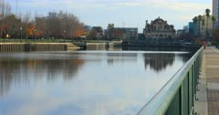 View of Stockton, California by the Mcleod Lake 4K