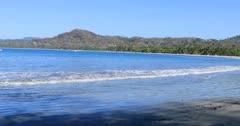 Peaceful coastline scene in Costa Rica 4K