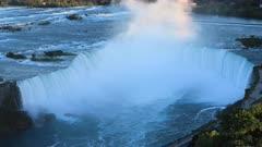 Twilight aerial timelapse of Horseshoe Falls, Niagara Falls 4K
