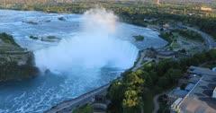 Aerial of Horseshoe Falls, Niagara Falls, Canada 4K