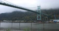 St. Johns Bridge in Portland, Oregon 4K