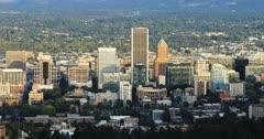 Portland, Oregon skyline in the evening 4K
