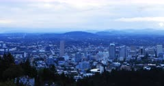 Portland, Oregon skyline in the morning 4K