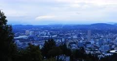 Portland, Oregon city center in the morning 4K