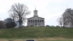 Timelapse Tennessee State Capitol building in Nashville 4K