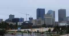Winnipeg cityscape on a rainy day 4K