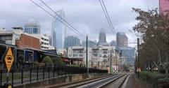 Charlotte, North Carolina skyline on lovely morning 4K