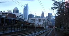 Charlotte, North Carolina skyline at dusk 4K