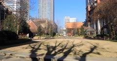 Charlotte, North Carolina park in downtown area 4K