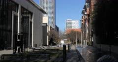Charlotte, North Carolina scene in downtown area 4K