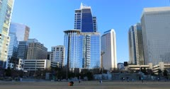 Charlotte, North Carolina downtime on clear day 4K