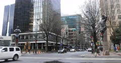 Street scene in downtown Charlotte, North Carolina 4K