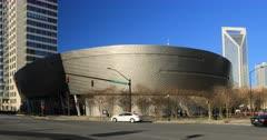 Nascar Hall of Fame building in Charlotte, North Carolina 4K