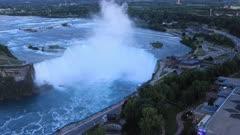 Looping day to night timelapse of Niagara Falls, Ontario, Canada 4K