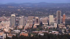 Looping day to night timelapse of Portland, Oregon, United States 4K