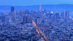 Looping day to night timelapse of San Francisco, United States 4K