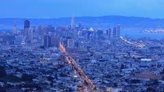 Looped day to night timelapse of San Francisco, California, United States 4K