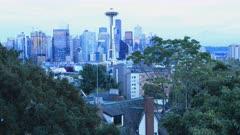 Looping day to night timelapse of Seattle, Washington, United States 4K