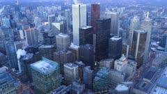 Looping day to night timelapse of Toronto, Ontario, Canada 4K