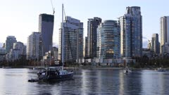 Looping day to night timelapse of Vancouver, Canada 4K