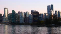 Looped day to night timelapse of Vancouver, British Columbia, Canada 4K