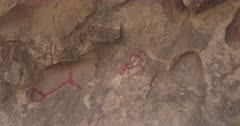 Petroglyphs in cave, Joshua Tree National Park