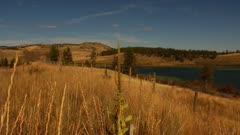 Grass Lands surrounding lake - semi-arid - pan