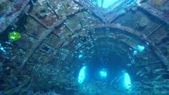WW2 Japanese plane wreck underwater Betty Bomber Truk Lagoon