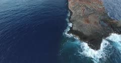 Aerial views of Cabo Pierce, in isla Socorro, Revillagigedo Archipelago. Mexican Pacific.