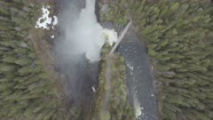 waterfall by drone