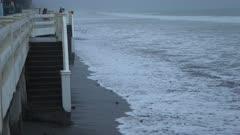 Storm Surge And Rough Seas Ahead Of Hurricane Landfall
