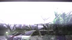 Hurricane Filled With Lightning Makes Landfall Violent Wind And Rain