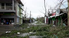 Streets Strewn With Debris After Hurricane Makes Landfall