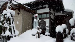 Japanese Temple Covered In Thick Layer Of Snow