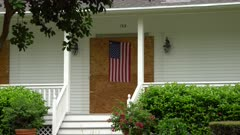 Hurricane Irma Boarded Up House With American Flag Ahead Of Storm
