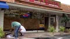 Business Boarding Up Ahead Of Hurricane Irma