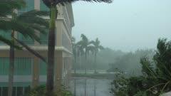 Hurricane Irma Strong Wind And Rain Build And Storm Nears