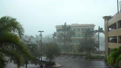 Hurricane Irma Strong Wind And Heavy Rain Start To Hit Florida