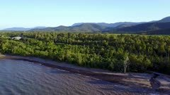 Aerial Footage Tropical Coastline Of Northern Queensland