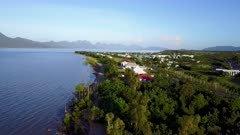 Aerial Footage Tropical Coastline In Northern Australia
