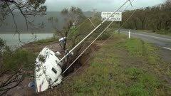Sailing Yacht Washed Ashore After Major Hurricane Hits