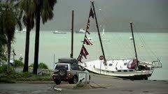 Luxury Yacht Washed Ashore By Major Hurricane Storm Surge