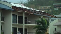 Roof Ripped Off By Powerful Winds Aftermath Of Hurricane Landfall