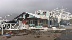 Destroyed Building In Aftermath Of Major Hurricane Landfall