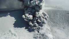 Aerial Footage Inside Volcano Crater As Major Eruption Spews Ash